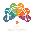 template colorful semicircle for infographics vector image vector image