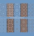 ten seamless arabic patterns vector image vector image