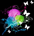 white butterflys vector image
