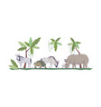 wildlife semi flat rgb color vector image