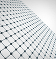 Wireframe Polygonal Element 3D Perspective Grid vector image