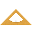 wooden builders level vector image vector image