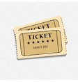 Retro cinema tickets on white background vector image