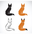 group of fox design on white background fox icon vector image