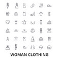 woman clothing clothes fashion girl dress vector image