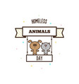 homeless animals day vector image