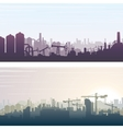 Industrial and Construction Banner Background vector image