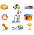 dog care icons vector image