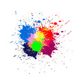 abstract paint color design background design vector image