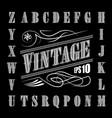 alphabet letters vintage set western vector image