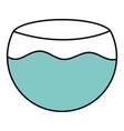 aquarium bowl with water icon vector image vector image