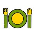 baby plate spoon icon design clip art color vector image