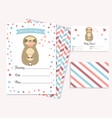 baby shower invitation card with cute sloth vector image