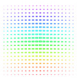 banknote shape halftone spectrum grid vector image vector image