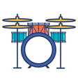 battery drums musical instrument vector image