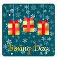 boxing day holiday in the uk and the british vector image vector image