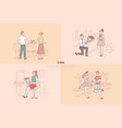 boyfriend and girlfriend dating couple holding vector image vector image