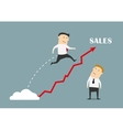 Businessman jumping up to success vector image vector image