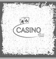 casino label playing cards vector image