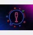 champagne glass line icon wine glass sign vector image vector image