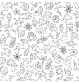 Christmas seamless pattern with different icons vector image vector image