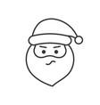 cute santa claus emoticon line design vector image vector image