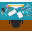 Designer workplace vector image vector image
