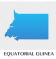equatorial guinea map in africa continent vector image vector image