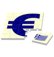 euro without Greece vector image