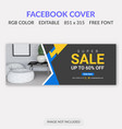 facebook cover vector image vector image
