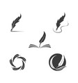 feather pen icon template vector image vector image