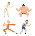 Fighters people set vector image vector image
