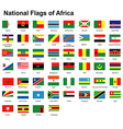 flags africa vector image