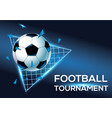 football tournament with blue background template vector image vector image
