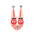 funny ethnic indian tribal mask with long ears vector image vector image