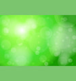 green bokeh abstract background vector image