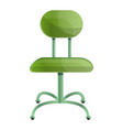 green chair icon cartoon style vector image vector image