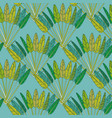 green tropical palm leaves and branches fan vector image