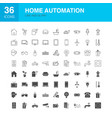 Home automation line web glyph icons