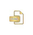 html computer symbol vector image