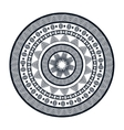 icon mandala india culture design vector image