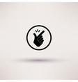 Icon - snap of the fingers vector image vector image
