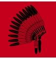 Indian feathers war bonnet vector image vector image