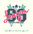 League emblem girls print and design elements vector image vector image
