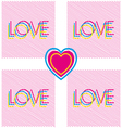 love and heart modern poster vector image