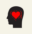 love concept with human head vector image vector image