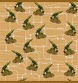 military unit on a grid background vector image
