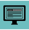 monitor pc news paper graphic isolated vector image