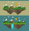 natural landscape in the flat style vector image vector image