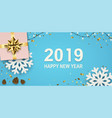 new year banner with sparkling garlands vector image vector image